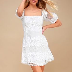 Free People Be Your Baby Lace Off-Shoulder Dress